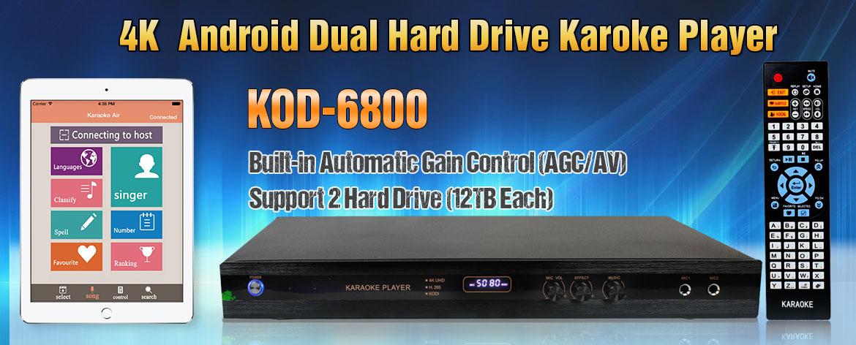 Acesonic KOD-6800 Dual Hard Drive Multimedia Karaoke Player - 4TB with  2,000 English Songs