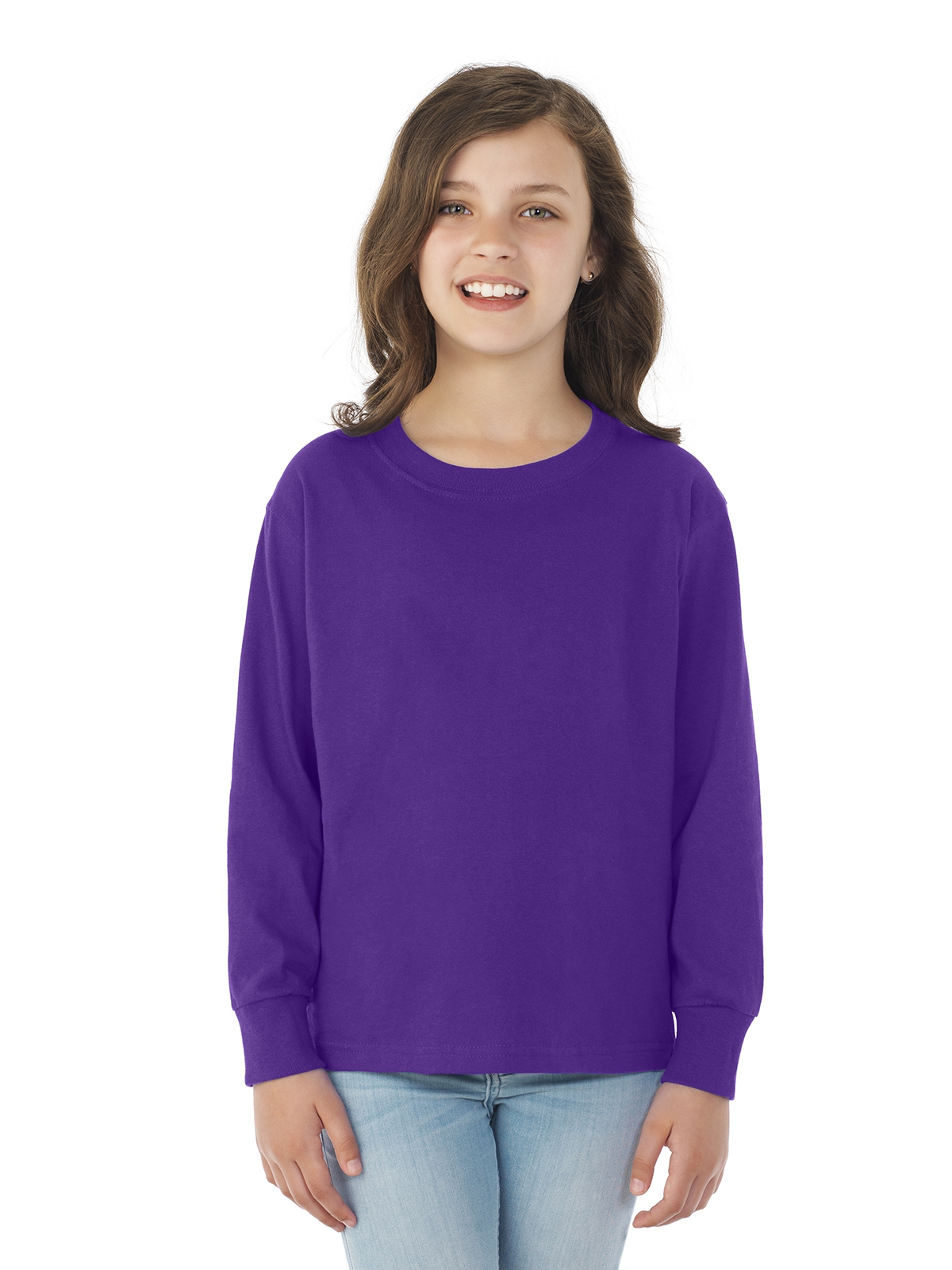 Fruit of the Loom 4930BR HD Cotton™ Youth Long-Sleeve T-Shirt