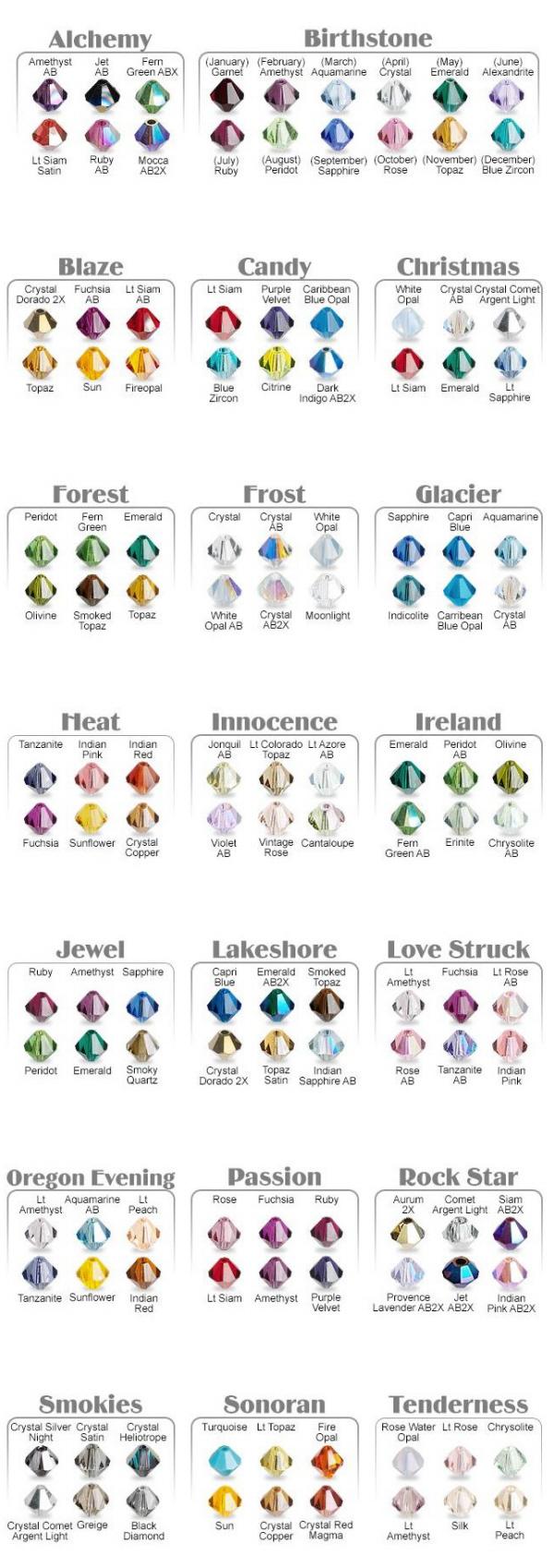 Swarovski Color Groups