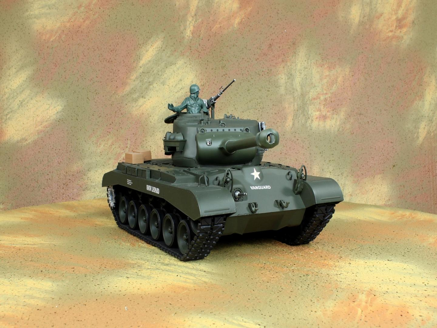 HENG-LONG Toys 3838 RC Scale Model Tank, WWII US M26 Pershing Snow Leopard Remote Control Tank.