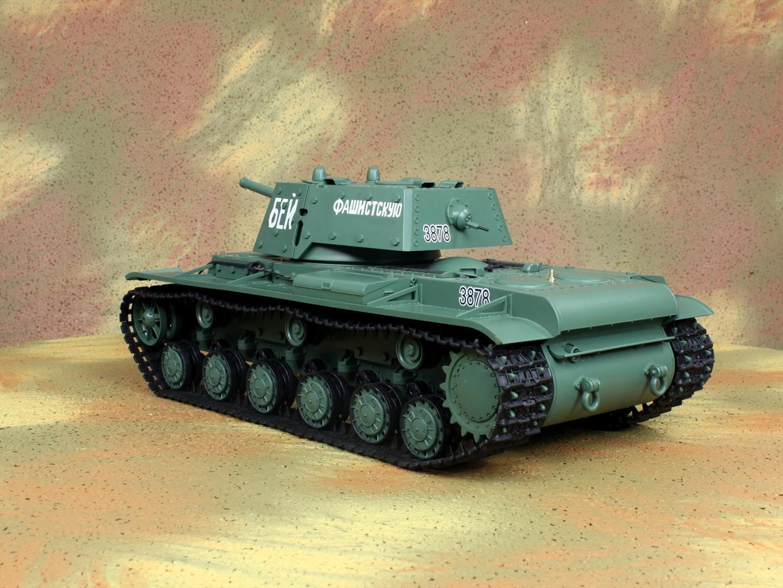 HENG-LONG Toys 3878 RC Scale Model Tank, World War II Soviet Union (Russia) KV-1'S Ehkranami Remote Control Tank.