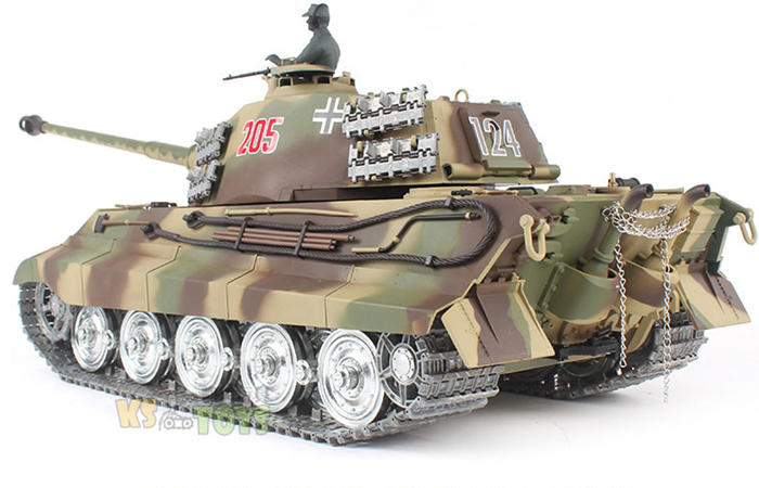 HENG-LONG Toys 3888, 3888A RC Scale Model Tank, World War II Germany KING TIGER Remote Control Tank.
