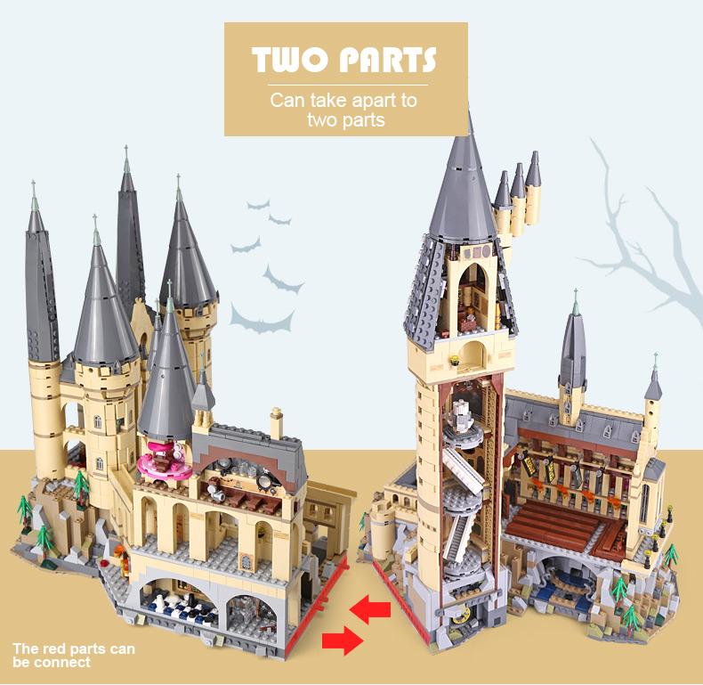 Custom Hogwarts Castle Compatible Building Bricks Toy Set 6125 Pieces