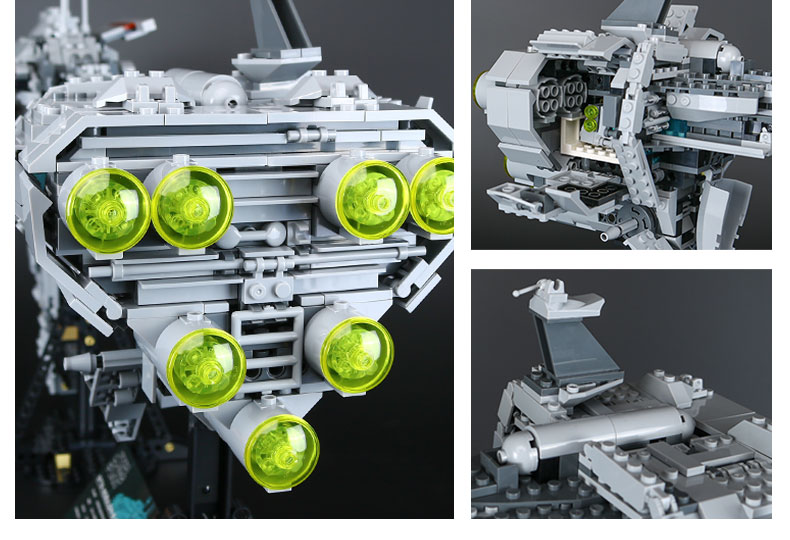 Custom Nebulon-B Medical Frigate Compatible Building Bricks Toy Set 1736 Pieces