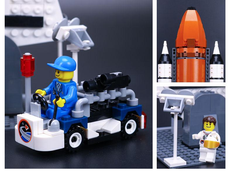 Custom Shuttle Expedition Building Bricks Toy Set 1230 Pieces