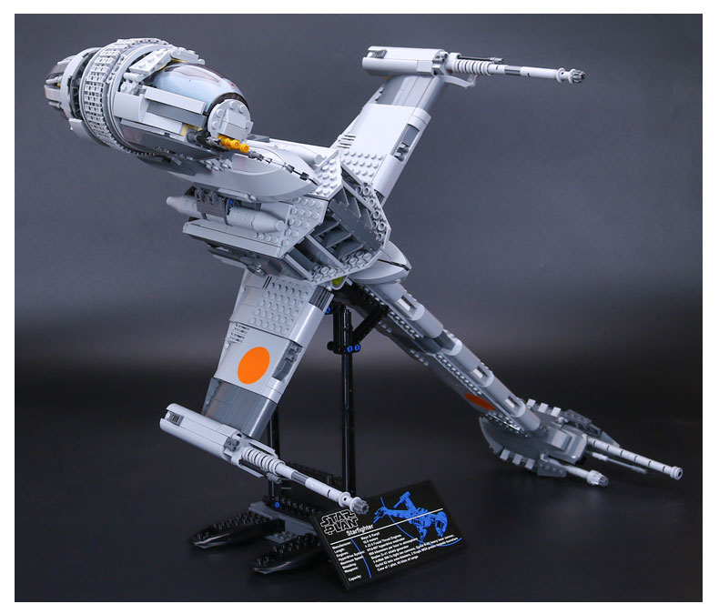Custom Star Wars B-Wing Starfighter Building Bricks Toy Set