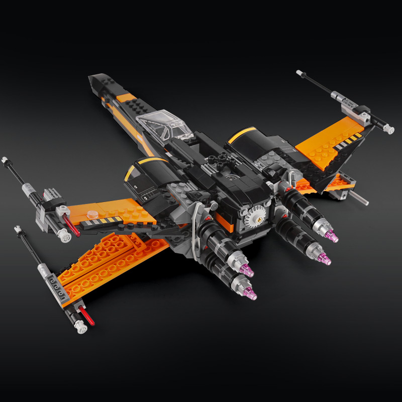 Custom Star Wars Poe's X-Wing Fighter Building Bricks Toy Set 784 Pieces