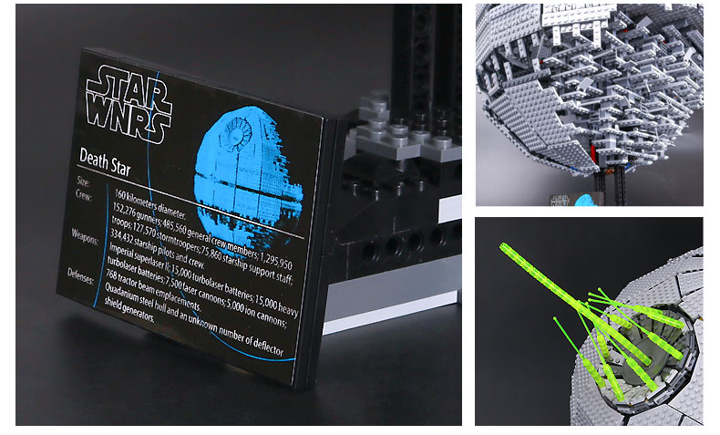 Custom Star Wars UCS Darth Star II Building Bricks Toy Set 3449 Pieces