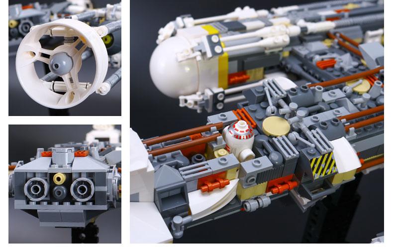 Custom Star Wars Y-Wing Attack Starfighter Building Bricks Toy Set