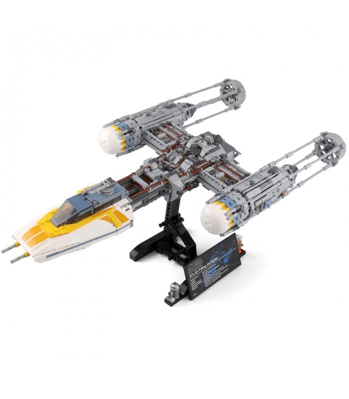 Custom Star Wars Y-Wing Starfighter Building Bricks Toy Set 2203 Pieces