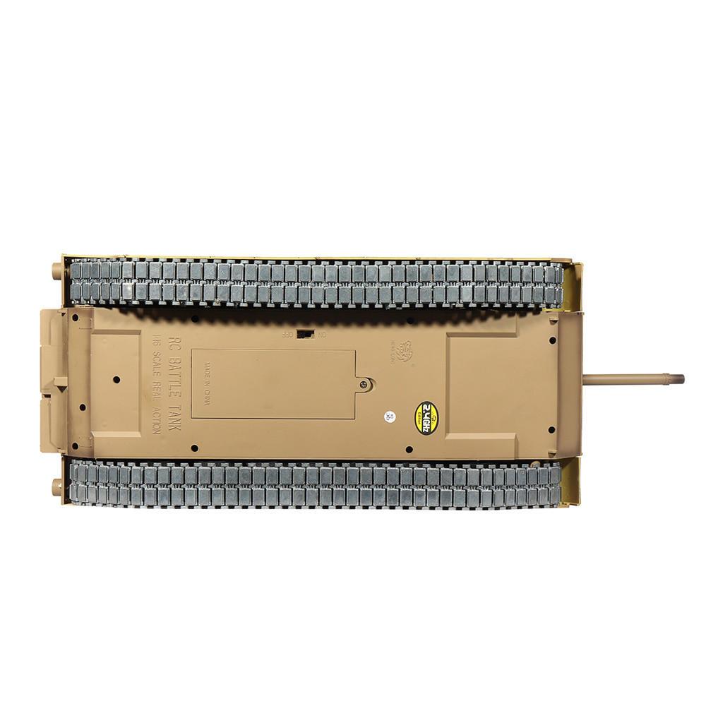 Heng Long 6.0 Version 3918-1 1/16 2.4G M1A2 Rc Car Battle Tank Metal Track with Sound Smoke Toy