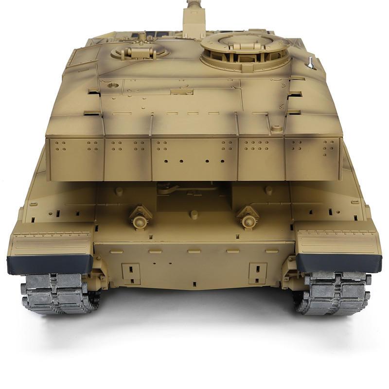 Henglong 3908-1 1/16 2.4G Smoking British Challenger 2II RC Car Battle Tank Metal Gearbox Toys