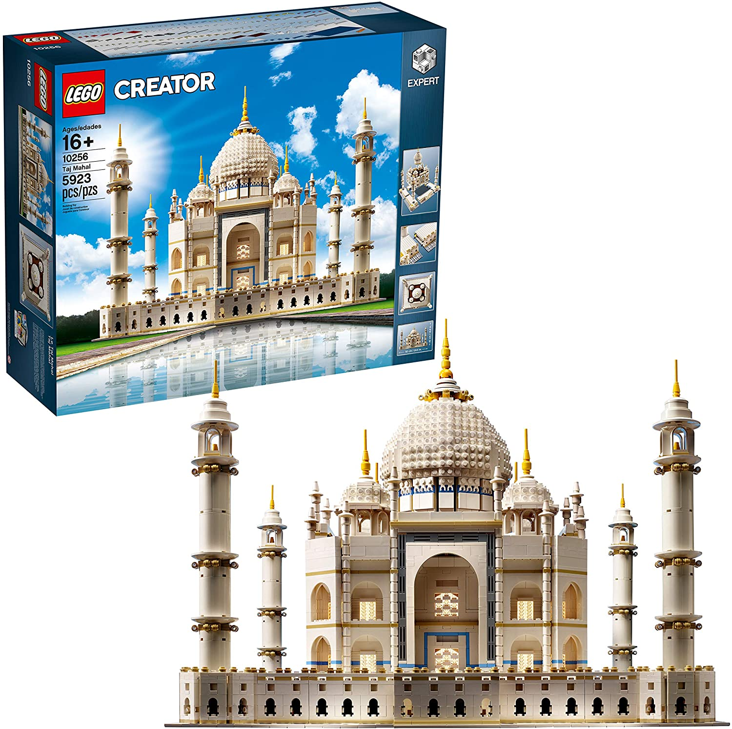 LEGO Creator Expert Taj Mahal 10256 Building Kit and Architecture Model, Perfect Set for Older Kids and Adults (5923 Pieces)