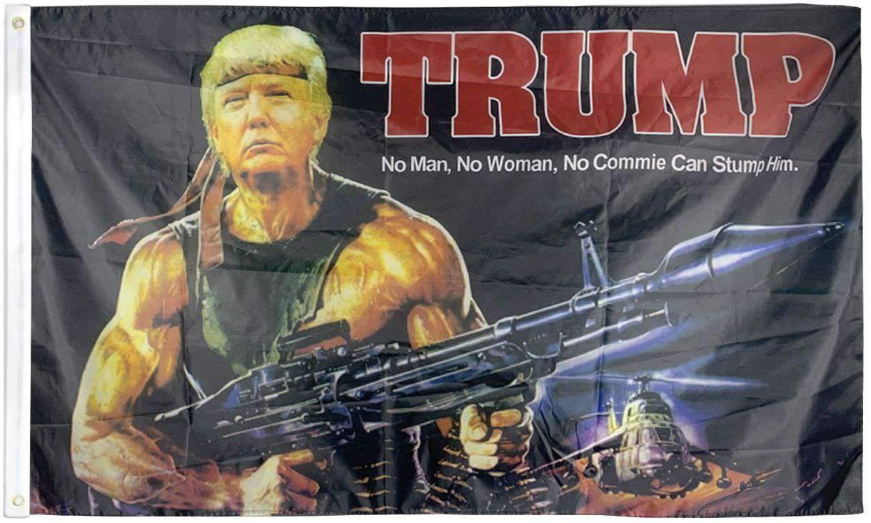 Trump Rambo President 3x5 Feet MAGA Banner Flag
