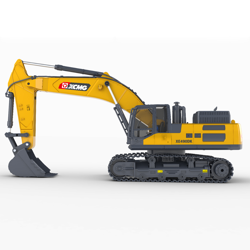 15 Channel Full Functional Remote Control Excavator Construction Tractor, Excavator Toy with 2.4Ghz Transmitter and Metal Shovel
