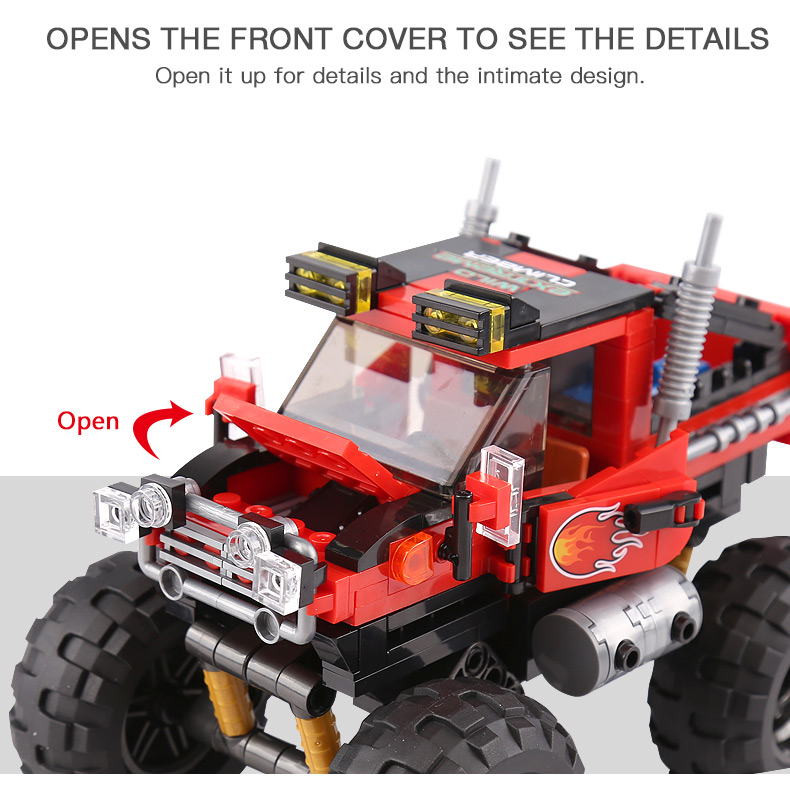 XINGBAO 03025 Bigfoot Off-Road Vehicles Building Bricks Toy Set