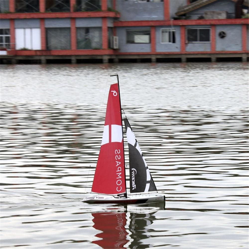 Unpowered Sailboat RC Scale Model, 2.4Ghz 2-Channel Remote Control Sailboat RC Sailing Boat,  Ready to Run RG65 Class Competition RC Boat, RTR for Beginners, Adults. Volantexrc 791-1.