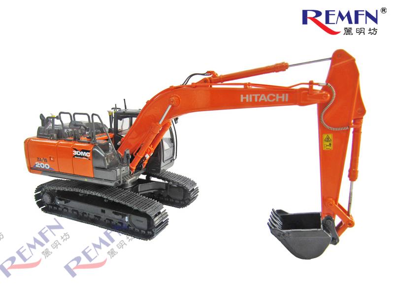 1:50 Scale Diecast Hitachi Construction ZAXIS 200 3DMC Scale Model Excavator, Hitachi Excavator ZX200X-6 3DMC Die-cast Scale Model.