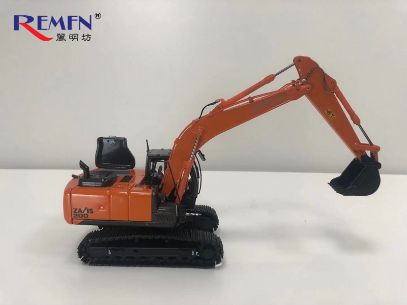 1:50 Scale Diecast Hitachi Construction ZAXIS 200 5 Series Scale Model Excavator, Hitachi ZX200-5A /  Hitachi ZX200-5B Solution Linkage Assist ICT Excavator Die-cast Scale Model.