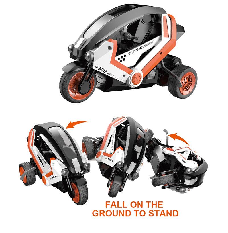 1/8 Scale RC Tricycle Stunt Car, 3 Wheels RC Tricycle Stunt Motorcycle, RTR RC Stunt Tricycle Toy, Fancy stunt rc tricycle 1:8 moto tres ruedas de radio control.