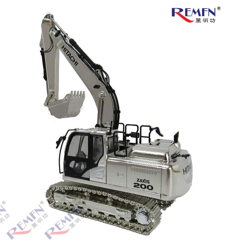 1:50 Scale Diecast Hitachi Construction ZAXIS-6 Series Scale Model Excavator, Hitachi ZX200 Bronze Silver Gold Excavator Die-cast Scale Model.