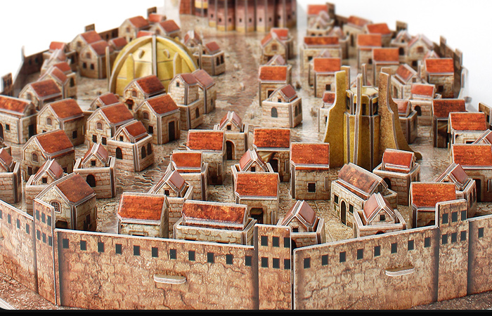 Cubicfun 3D Puzzle Toys/Games DS0987h, HBO Game Of Thrones King's Landing 3D Puzzle Kits.