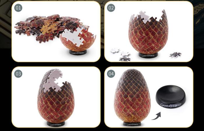 Cubicfun 3D Puzzle Toys/Games E1627h, HBO Game Of Thrones Dragon Eggs 3D Puzzle Kits.