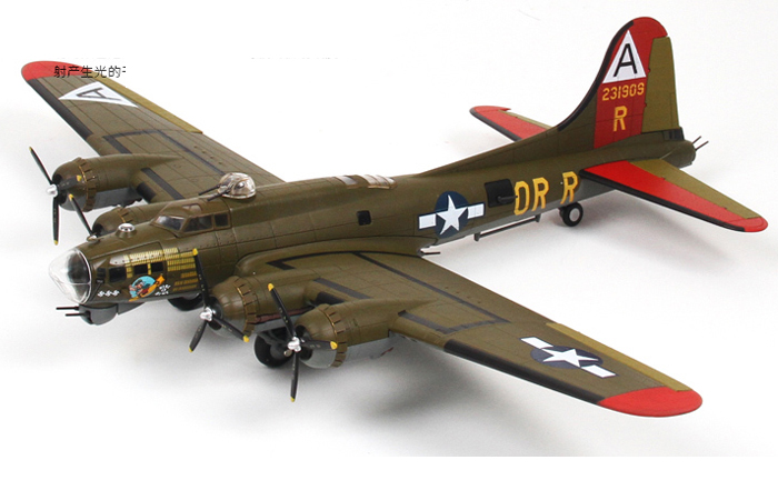 1 72 Scale Model Wwii Bomber Usa B17 Flying Fortress Zinc