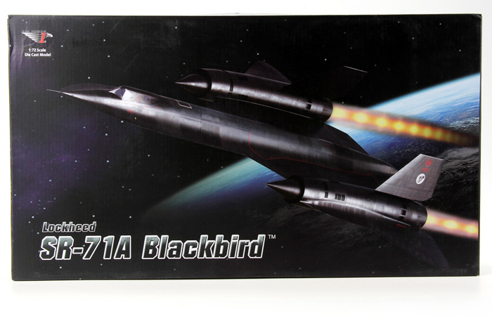 1/72 Scale Modern Military Aircraft Model, US SR-71A Blackbird Reconnaissance Plane Diecast Model.