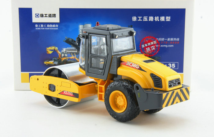 1/35 Scale Model XCMG XS203 Single Drum Roller Compactor Diecast Model, Zinc Alloy Model Toy.