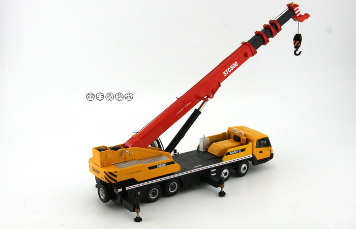 1/43 Scale Model SANY STC500 Mobile Crane Original Diecast Model, Construction Machinery, Construction vehicles, crane truck, lifting crane.