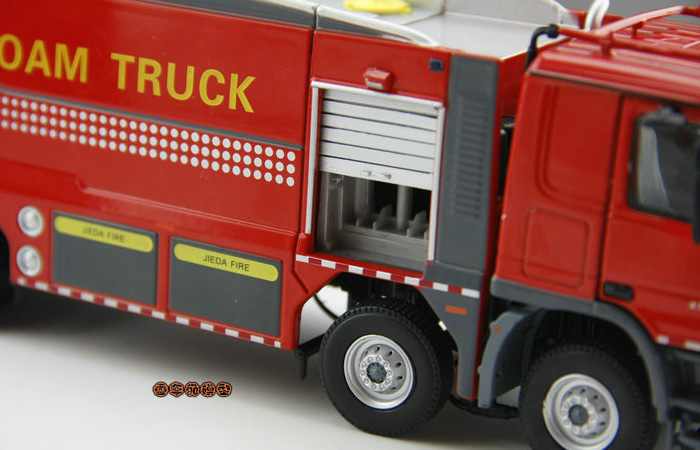 Scale Model, 1/50 Scale BENZ ACTROS Foam Truck Diecast Model, Fire truck Static model, Rescue Truck finished model, Foam Truck display model.