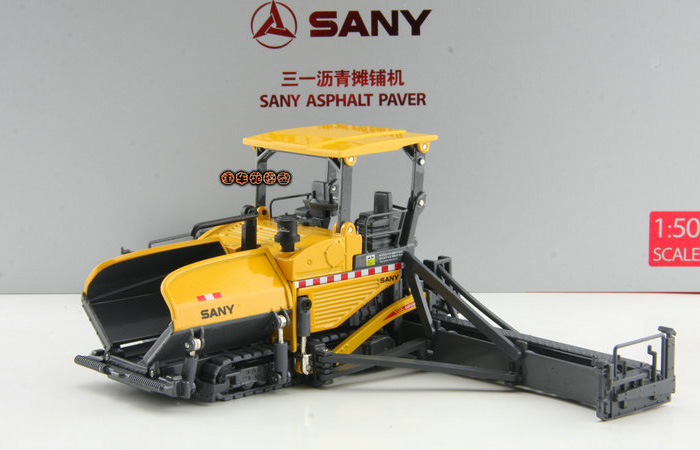 1/50 Scale Model SANY Asphalt Paver Original Diecast Model, Construction Machinery, Construction vehicles, Static Model, Finished model.