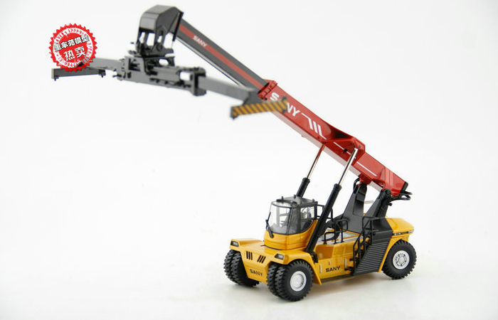 1/38 Scale Model SANY ISUZU Concrete Pump Truck Diecast Model, Construction Equipment Model, construction machines Model, Excavator scale model.