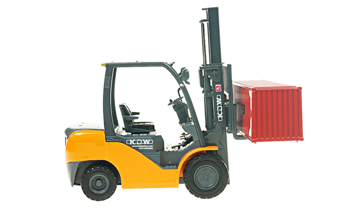 Forklift With Container Diecast Model, Construction Vehicles Scale Model, Child Toy.