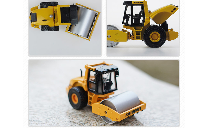 1/50 Scale Model Roller, Single-Drum Roller Diecast Model. Engineering Vehicle Toy.