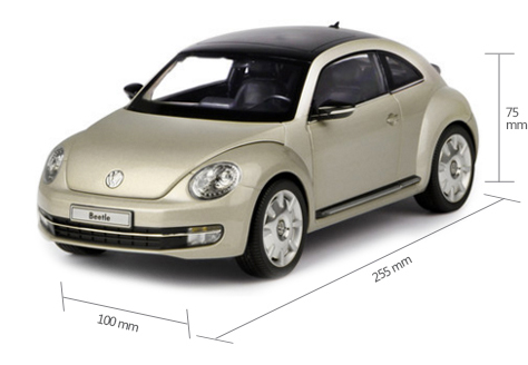 1/18 Scale Model Car Kyosho 08811SY Volkswagen Beetle Coupe 2012 Model Car, Gifts, toys, collectibles.