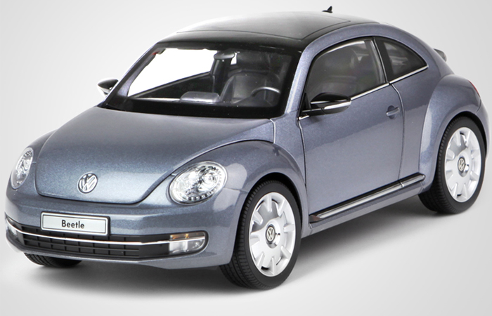 1/18 Scale Model Car Kyosho 08811SY Volkswagen Beetle Coupe 2012 Model Car, Gifts, toys, collectibles..