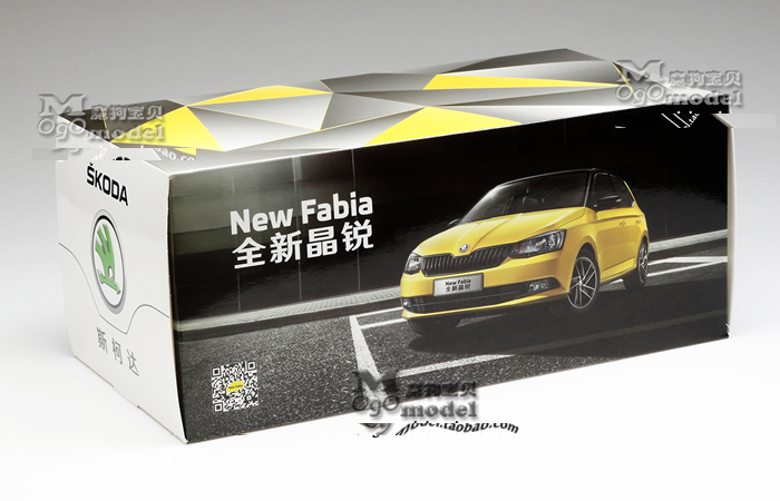 1/18 Scale Model Volkswagen SKODA FABIA 2015 Original Diecast Model Car, metal Scale model car, Gifts, toys, collectibles, Display Model, Static Model.