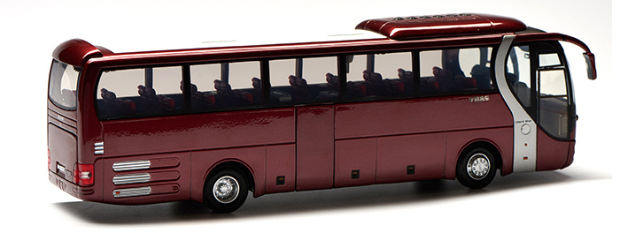 1/42 Scale Model YuTong Buses MAN ZK6120R41 Original Diecast Model Bus, Metal Scale Model Car, Gifts, Toys, Collectibles, Display Model, Static Model.