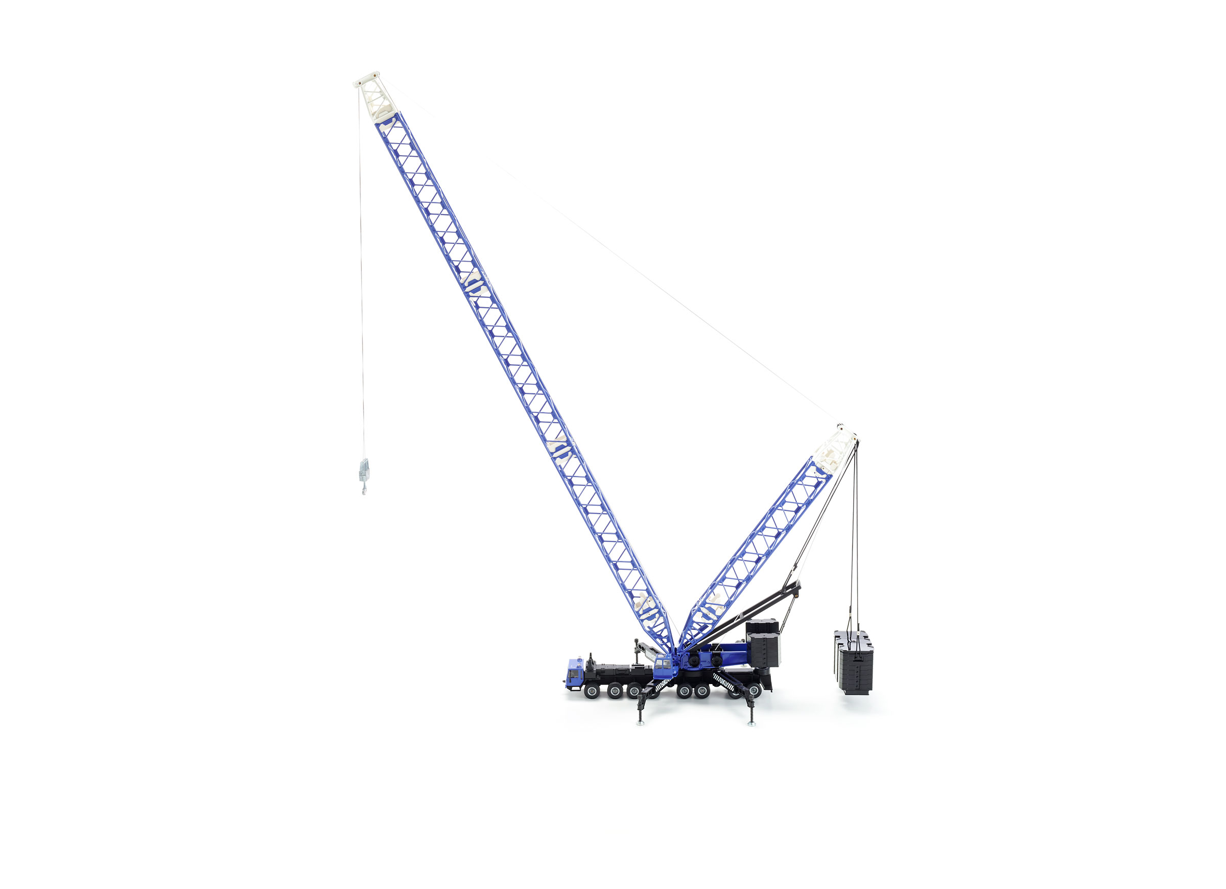 1/55 Scale Model, Siku 4810 Heavy Mobile Crane Diecast Scale Model.