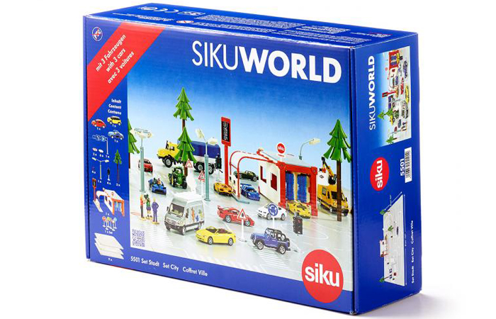 1/50 Scale Model, Siku 5501 Set City SIKUWORLD (Startset Stadt, Starter Set City, Coffret Starter Ville).