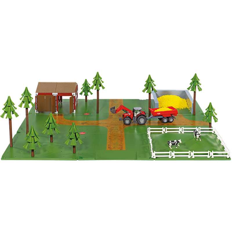 Siku 5601 Farm scene toy, kids Farmer play toy, children's room farm landscape toy.