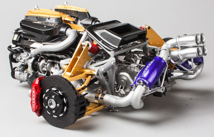 Fronti-Art Pagani Huayra Engine Display Diecast 1/6 Scale Model.