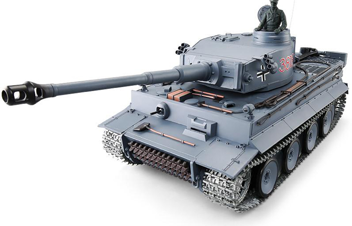 1:16 Scale Tiger I Remote Control Scale Model Tank, HENG-LONG Toys 3818 Radio Controlled Tank.