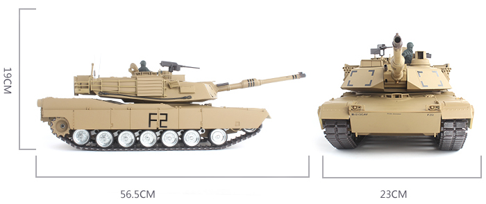 HengLong RC Tanks 3918-1 American MBT M1A2 ABRAMS Military Vehicles Scale model.
