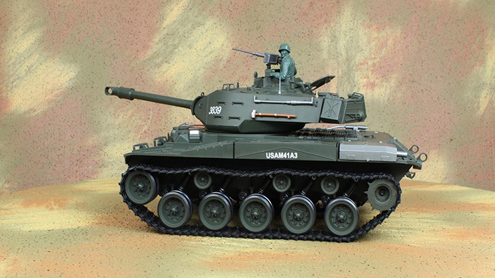 heng long toys, 1/16 scale radio control battle tank, m42a3 walker bulldog ligh tank, airsoft tank, military vehicles.