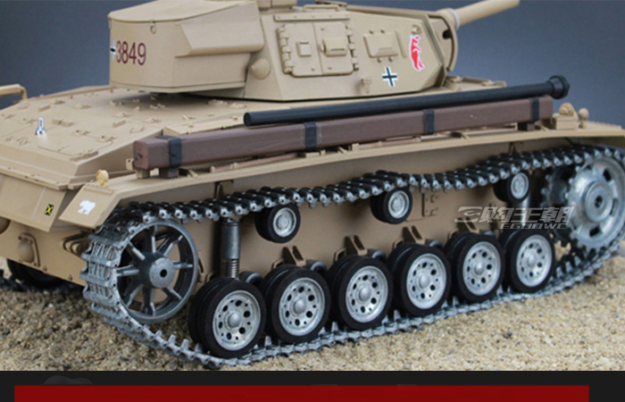 HENG-LONG Toys 3849 RC Scale Model Tank, World War II German Tauch Panzer III Ausf.H Remote Control Tank.