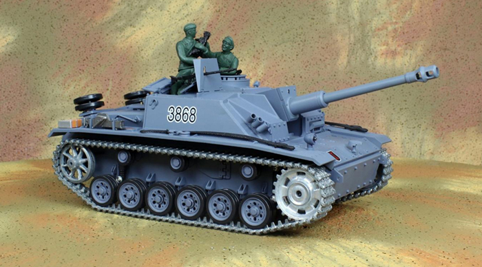 HENG-LONG Toys RC Tank 3868, World War II GERMAN STURMGESCHUTZ III AUSF.G.SD.KFZ.142/1 1/16 Scale Model Remote control Tank.