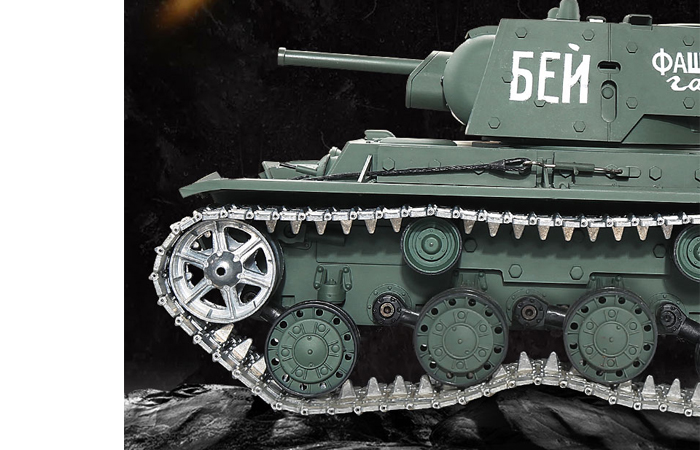 HENG-LONG Toys 3878 RC Scale Model Tank, World War II Soviet Union (Russia) KV-1'S Ehkranami Remote Control Tank.